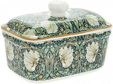 Lidded Butter Dish With William Morris Pimpernel Pattern Made Of Fine China