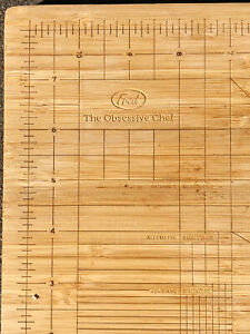 "Bamboo Cutting Board - Fred The Obsessive Chef - 9"" x 12"" Pre-Owned"