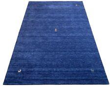 Gabbeh Blau Teppich 170x240 cm Handgewebt 100% Wolle Lori Buff Debbich Handloom
