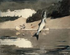 Homer Winslow Ouananiche Fishing Lake St John Province Of Quebec Print   #5629