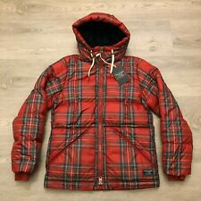 Abercrombie & Fitch A&F Womens Red Plaid Ultra Puffer Jacket Size XS New $220