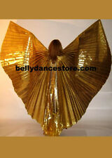 Professional Bellydance Belly Dance Prop  Bellydancing Gold Lame Wings 1580