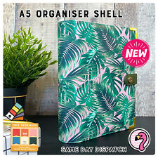 A5 ORGANISER, FAUX LEATHER, PLANNER JOURNAL FILOFAX 6 RINGS,FREE GIFT NEW*BT