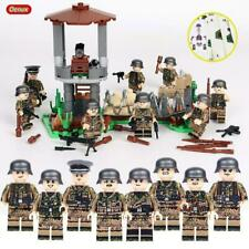 Military Base WW2 Set 8 Army guns Soldiers Germany Blocks Fit Lego UK SELLER