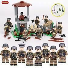 Base MILITAR EJERCITO SOLDADOS armas Segunda Guerra Mundial Set 8 bloques de Alemania ajuste Lego vendedor del Reino Unido