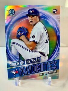 2021 Bowman Chrome #RRY-NP  Rookie of the Year Favorite Nate Pearson RC