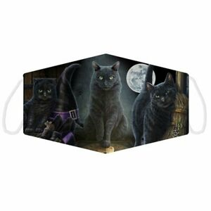Lisa Parker Black Cats Face Covering Mask Adult Magical Reusable Double Layer