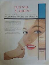 1954 Mujer Bur-Mil Camafeo las Medias Medias Colores Favorece Complexión Anuncio