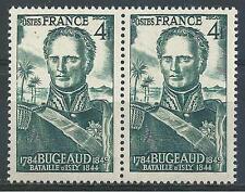 France 1947 Sc# 497 set Thomas Robert Bugeaud battle pair MNH