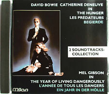 """CD """"THE HUNGER"""" & """"THE YEAR OF LIVING DANGEROUSLY"""" OST  DAVID BOWIE - C. DENEUVE"""