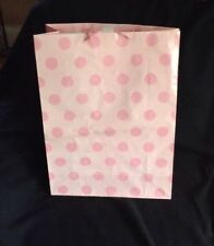 Hallmark new baby gift bags ebay lot of 8 hallmark new baby shower pink polka dot gift bags with handles x large negle Choice Image