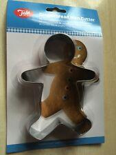 NUOVO con confezione NUOVO Tala Pan Di Zenzero Uomo in Metallo in Acciaio Inox Cookie Cutter - 14x10x2.5cm