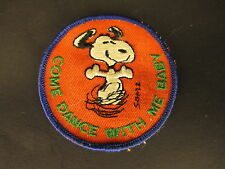"""Vintage Snoopy Peanuts """"Come Dance With Me Baby"""" Sew-on Clothing Patch"""