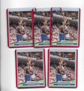 (5) SHAQUILLE O'NEAL 1992-93 FLEER ULTRA BASKETBALL ROOKIE LOT #328 - MAGIC (J1)