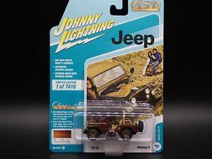 2021 JOHNNY LIGHTNING JEEP CJ-5 CLASSIC GOLD VS A REL 2 NO 4 1:64 CAR