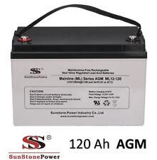 Solarbatterie 12V 120Ah AGM GEL USV Batterie Wohnmobil Boot Solar Batterie C100
