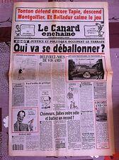 Le Canard Enchainé 21/07/1993; Foot, Justice et politique occupent le terrain
