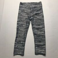 Under Armour Compression Heat Gear Gray White Geo Print Crop Tight Size XS a1296