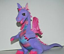 "Barbie 2002 12"" Plush Rapunzel PENELOPE Talking Purple DRAGON Mattel WORKS"