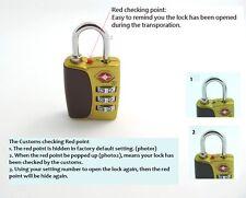 TSA Lock Resettable 3 Digit Combination Travel Luggage Suitcase Lock Padlock