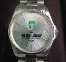 Kelly Tire Vintage Collectible Football/Watch Combo 1987 Blue Gray Football Game