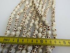 **Imitation turquoise WHITE (IVORY COLOUR) LARGE skull beads x25 Pcs approx**