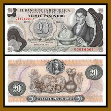 Colombia 20 Pesos Oro, 1983 P-409 Unc