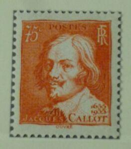 France 1935 75c red Jacques Callot vf Mint never hinged SG 531