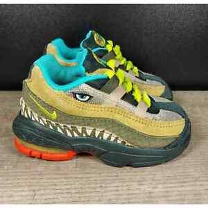 Nike Air Max 95 TD Monster Dinosaur CI9945-300 Green Cyber Tan Toddler size 5C