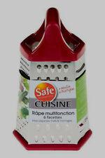 Râpe INOX poignée Rouge-23x14,5cm multifacette-Légumes,Fruits,Fromage,NEUF-PARIS