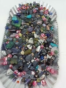 Wholesale Beads  Mixed Loose Gemstone Beads 1 1/2 Pound  Jewelry Making Supplies