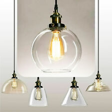 Industrial Vintage Pendant Light Glass Lamp Shade Suspended Ceiling Lights Style
