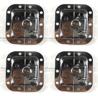 4 x  Chrome Small Butterfly Latches (Split Dish,Padlock) For ATA Road Cases