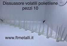 Pz 10 Dissuasori Piccioni Volatili Uccelli Plastica Polietilene  =5 Mt