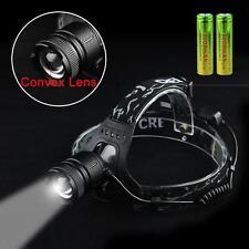 40000lm CREE XML T6 LED USB Lampe Frontale Rechargeable de tête 18650 torche #6