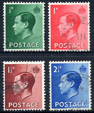 Gb 1936 Edward Viii Definitive Set of 4 Sg457 - 460 Fine Used