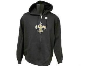 New Orleans Saints Adult Mens Sizes S-M Reebok Hoodie Full Zip Jacket