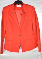 Calvin Klein Women's Blazer Jacket, Zipper Detailed, Red, Size 8 - M, $129, NwT