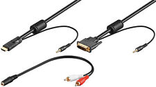 DVI/ HDMI Kabel mit Audioleitung DVI-D (18+1) Stecker > HDMI Stecker 2 m