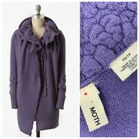 MOTH Anthropologie Sz X Small Ha'Penny Purple Collar Cardigan Sweater