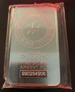 10 oz Royal Canadian Mint (RCM) .9999 Fine Silver Bar (Sealed) #990254906