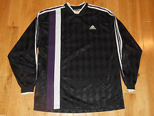 VINTAGE ADIDAS LONG SLEEVE GOAL TENDER GOALKEEPER GOALIE SOCCER JERSEY MENS LG