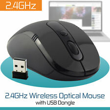 2.4Ghz Wireless Ergonomic Cordless Mouse Optical Scroll Mice For Mac Dell HP PC