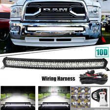 "For Dodge Ram 1500 2500 3500 2003-18 Bumper 42"" LED Curved Light Bar +Wiring Kit"