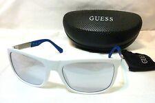 Genuine GUESS GU6843-21C-57 Womens Rectangle Sunglasses Gray Mirror Lens WHITE