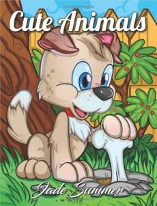 Cute Animals Adult Colouring Book Dogs Cats Horses Owls Elephants Cute Adorable