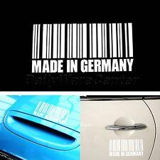 Car Van Laptop Sticker Custom Text MADE IN GERMANY BARCODE Vinyl Decoration Use