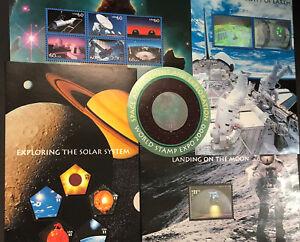 US Space Achievement & Exploration SC#3409 - 3413 Complete Set 5 Sheets CV: $135