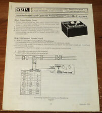 "Q.S.I.  ... ""How to Install and Operate PowerGuard"" Form Dated 1998."