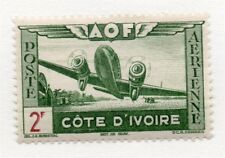 French Ivory Coast 1940s Air Mail Early Issue Fine Mint Hinged 2F. 229521